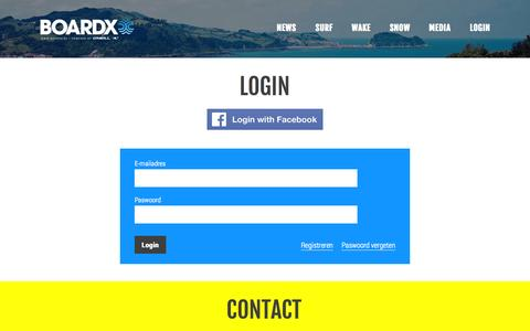 Screenshot of Login Page boardx.be - BoardX - Login - captured Sept. 30, 2014