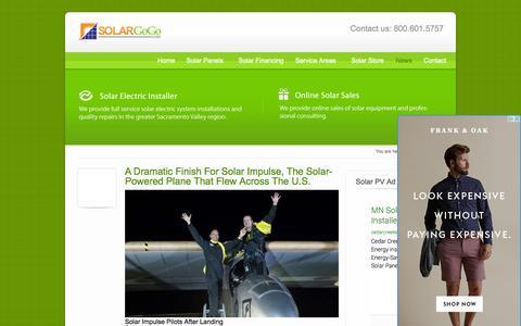 Screenshot of Press Page solargogo.com - Solar News - Solar Go Go - captured Oct. 26, 2014