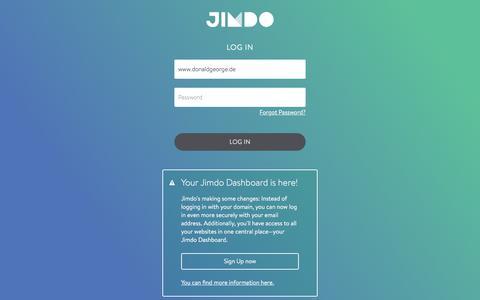 Screenshot of Login Page jimdo.com - Jimdo Login - captured Feb. 24, 2018