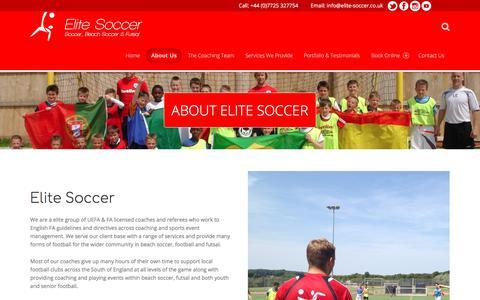 Screenshot of About Page elite-soccer.co.uk - About – Elite Soccer - captured July 29, 2017