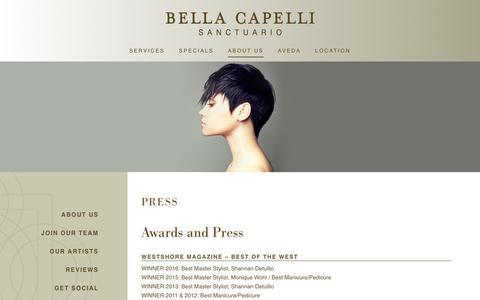 Screenshot of Press Page bellacapelli.com - Press | Bella Capelli Sanctuario | Westlake, OH - captured Oct. 10, 2017