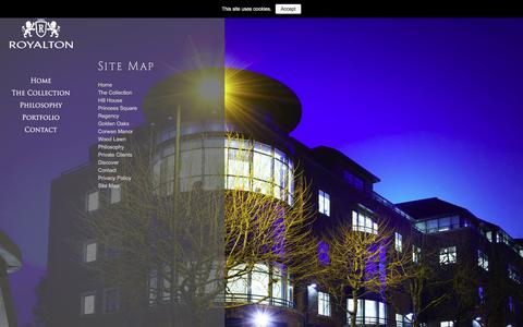 Screenshot of Site Map Page royalton.co.uk - Royalton  » Site Map - captured Feb. 24, 2016