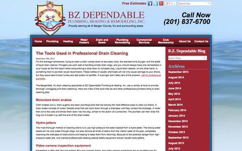 Screenshot of Blog bzdependable.com - Bergen County, NJ Plumbing & Heating Blog | New Jersey Plumbers & Heating Technicians | BZ Dependable - captured Oct. 5, 2014