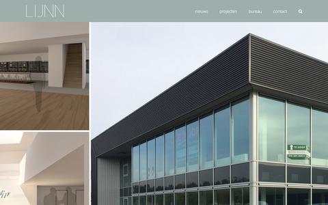 Screenshot of Home Page lijnn.nl - LIJNN - ingenieurs&ontwerpers   Rotterdam - captured Dec. 5, 2015
