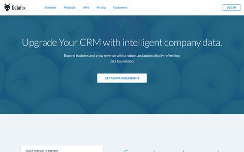DataFox | Upgrade Your CRM Data