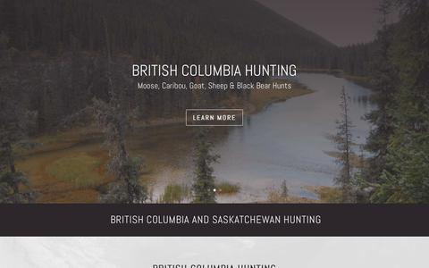 Screenshot of Home Page ggoutfitting.com - British Columbia and Saskatchewan Hunting with Gunson Guiding and Outfitting - captured Dec. 5, 2019