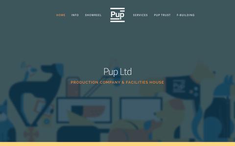 Screenshot of Home Page puplimited.com - Pup Ltd - captured Oct. 3, 2014