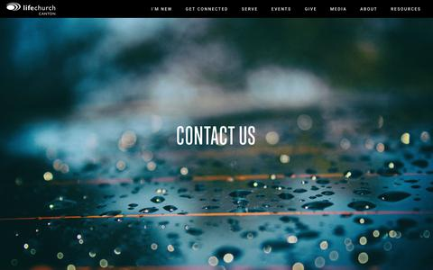 Screenshot of Contact Page lifechurchcanton.org - LifeChurch Canton - Home - captured July 25, 2018