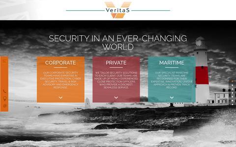 Screenshot of Home Page veritas-international.com - Maritime, Private & Corporate Security Consultants | Veritas International - captured Aug. 12, 2016