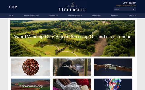 Screenshot of Home Page ejchurchill.com - Clay Pigeon Shooting Ground   E.J.Churchill - captured July 14, 2018