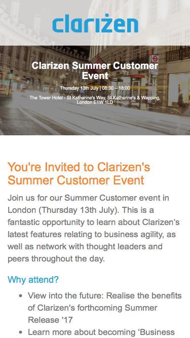 Clarizen Summer Customer Event