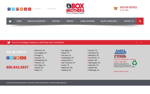 Screenshot of Terms Page boxbros.com - Terms and Conditions | BoxBros - captured Sept. 23, 2014
