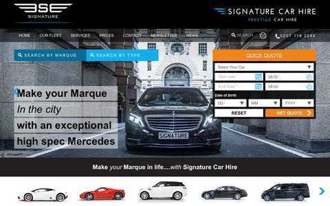 Screenshot of Site Map Page signaturecarhire.co.uk - Sitemap - Navigate Easy Through Website - captured Nov. 29, 2016