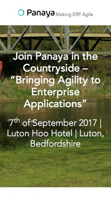 """Join Panaya in the Countryside – """"Bringing Agility to Enterprise Applications"""""""