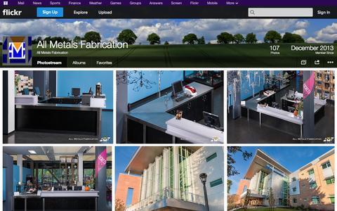 Screenshot of Flickr Page flickr.com - Flickr: All Metals Fabrication's Photostream - captured Oct. 23, 2014