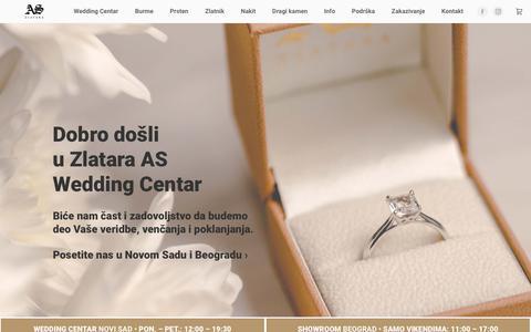 Screenshot of Home Page zlatara-as.rs - Zlatara AS • Wedding Centar • Beograd • Novi Sad - captured Nov. 17, 2018