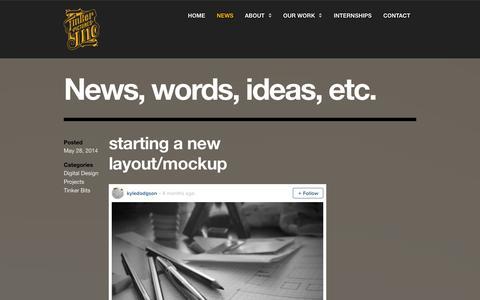 Screenshot of Press Page tinkerinc.ca - Blog - Tinker Pictures Inc | TINKER PICTURES INC. - captured Oct. 7, 2014