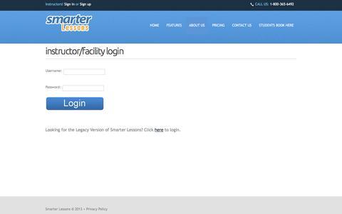 Screenshot of Login Page smarterlessons.com - Instructor Login - captured Dec. 24, 2016