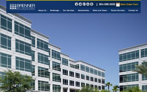 Screenshot of Home Page breg.net - Brenner Real Estate Group | Commercial Brokerage in Fort Lauderdale - captured Oct. 5, 2014