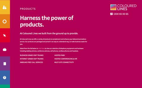 Screenshot of Products Page colouredlines.com.au - Products | Coloured Lines - captured July 20, 2018