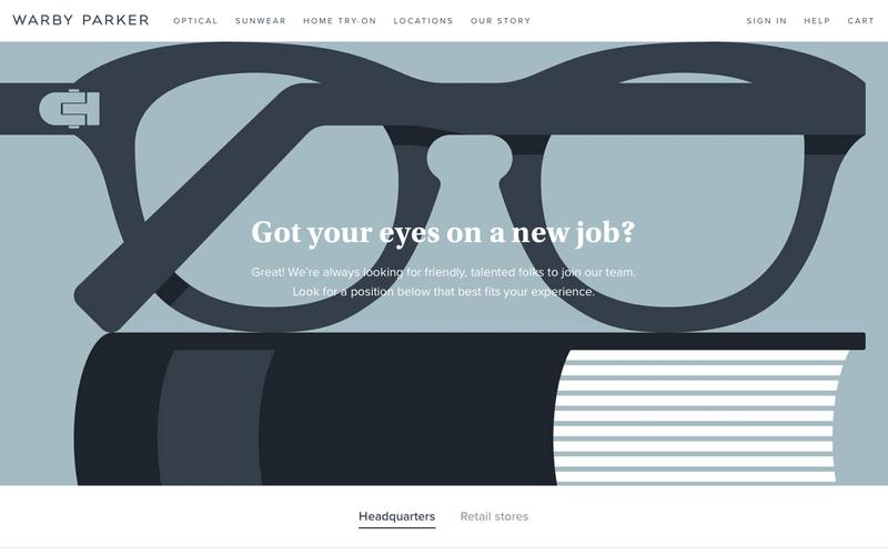 Screenshot Jobs | Warby Parker