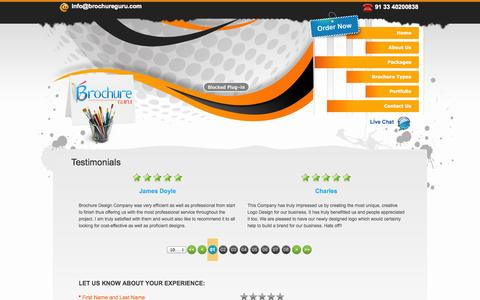 Brochure Design India - Testimonials from Valuable Clients