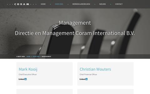 Screenshot of Team Page coram.nl - Management van Coram International - captured Jan. 31, 2016