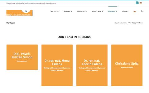 Screenshot of Team Page new-diagnostics.com - Our Team - New Diagnostics - captured Nov. 29, 2016