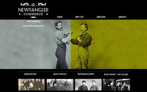 Screenshot of Home Page newfangledcommerce.com - Newfangled Commerce - captured Oct. 1, 2014