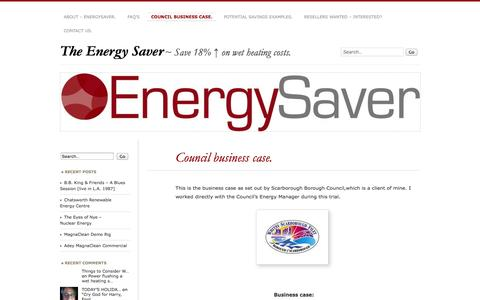 Screenshot of Case Studies Page wordpress.com - Council business case. | The Energy Saver - captured Oct. 26, 2014
