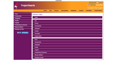 Screenshot of Site Map Page Menu Page trojanhearts.com - Map - captured Dec. 20, 2016