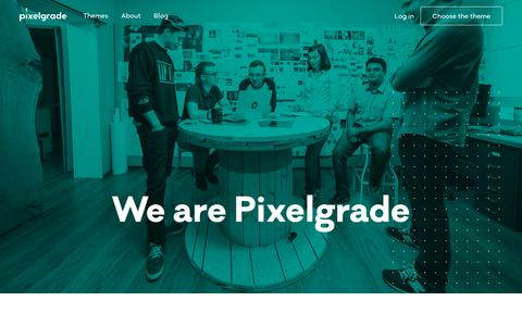 Screenshot of About Page pixelgrade.com - About - Pixelgrade - captured Sept. 21, 2018