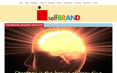 Screenshot of About Page selfbrand.com - The Personal Branding Advocate - SelfBrand : Catherine Kaputa - captured Sept. 21, 2018