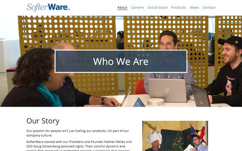 Screenshot of About Page softerware.com - About Us - SofterWare   Nonprofit CRM, Childcare and School Management Systems - captured March 5, 2018