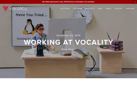 Screenshot of Jobs Page vocality.com - Careers — Vocality - captured Jan. 12, 2016