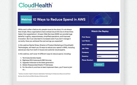10 Best Practices to Reducing AWS Spend