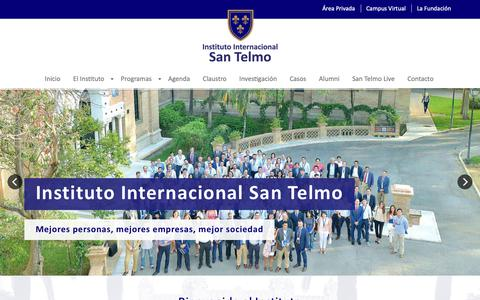 Screenshot of Home Page santelmo.org - Instituto Internacional San Telmo   Escuela de negocios - captured Oct. 12, 2018