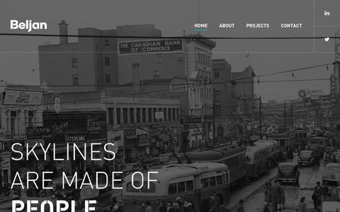 Screenshot of Home Page beljandevelopment.com - Beljan Development - captured Oct. 7, 2018