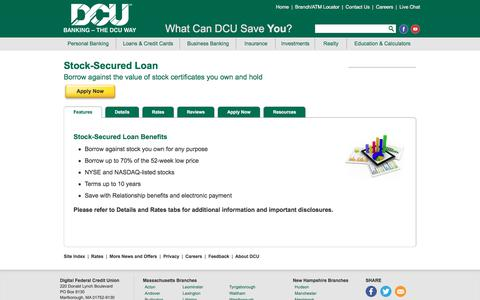 Stock Secured Personal Loan | DCU | Massachusetts | New Hampshire