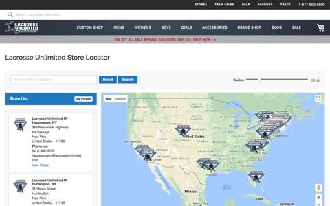 Lacrosse Unlimited Store Locator | Lacrosse Unlimited