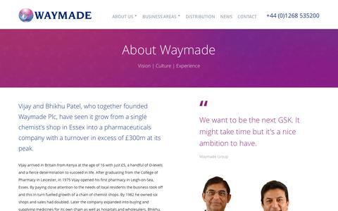 Screenshot of About Page waymade.co.uk captured Nov. 29, 2016