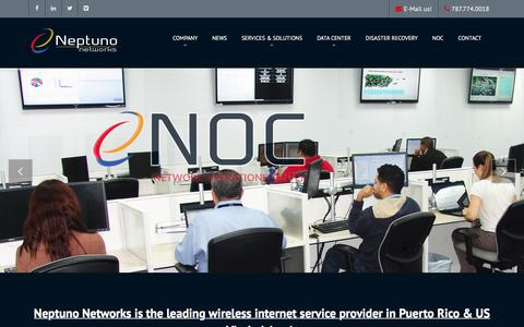 Screenshot of Home Page neptunonetworks.com - Neptuno Networks - Puerto Rico's Premier High Speed Internet Service Provider - captured June 12, 2017