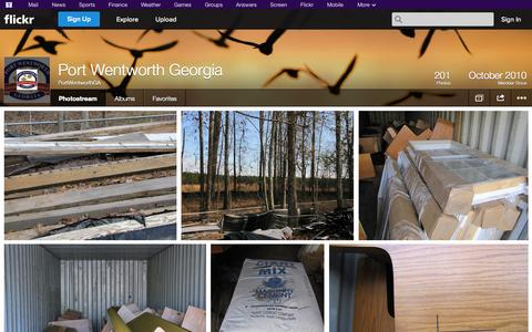 Screenshot of Flickr Page flickr.com - Flickr: PortWentworthGA's Photostream - captured Oct. 22, 2014