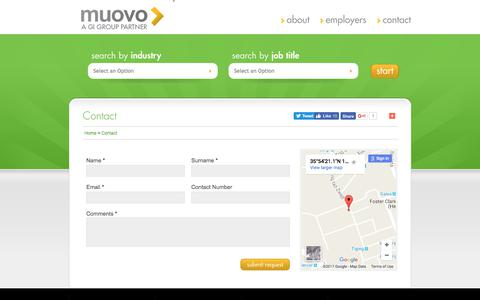 Screenshot of Contact Page muovo.eu - Contact - captured June 14, 2017