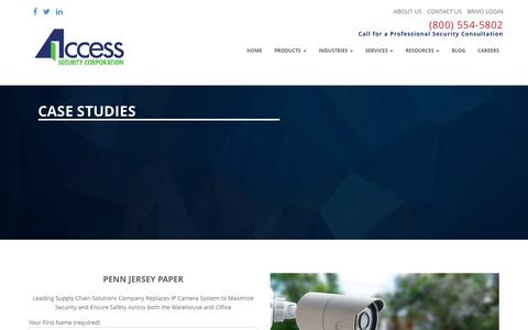 Screenshot of Case Studies Page accesssecurity.com - Case Studies - Access Security - captured Nov. 20, 2016