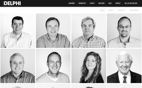 Screenshot of Team Page groupdelphi.com - Event Creators & Exhibit Designers | Group Delphi - captured Nov. 16, 2016
