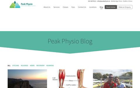 Screenshot of Blog peakphysio.ie - Peak Physio Blog | Peak Physio - captured May 15, 2017