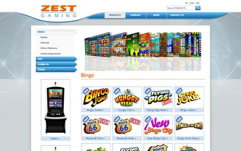 Screenshot of Products Page zest-gaming.com - Zest Gaming Spa - captured Oct. 7, 2014