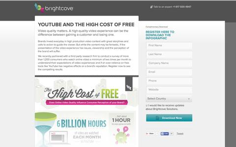 Screenshot of Landing Page brightcove.com - Brightcove | YouTube and the High Cost of Free - captured Dec. 17, 2015