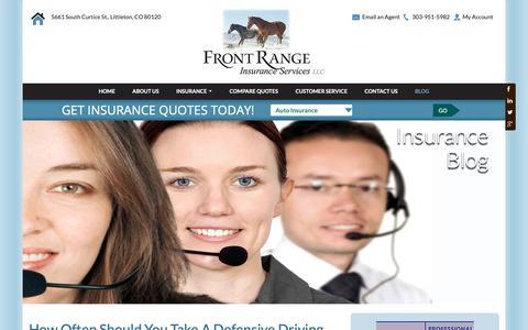 Screenshot of Blog frontrangeinsurance.com - Blog | Front Range Insurance Services | - captured Oct. 11, 2018